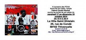 portes ouvertes ateliers d'artistes 17, 18, 19 octobre 2014 Fatima Cousin